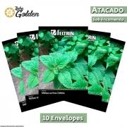 10 Envelopes - Sementes de Erva Cidreira ou Melissa - Atacado - Feltrin - Linha Golden