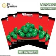 10 Envelopes - Sementes de Jiló Redondo Morro Grande - Atacado - Feltrin - Linha Golden