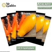 10 Envelopes - Sementes de Mamão Formosa - Atacado - Feltrin - Linha Golden