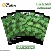 10 Envelopes - Sementes de Manjericão Dotto - Atacado - Feltrin - Linha Golden