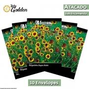 10  Envelopes - Sementes de Margarida Amarela Rudbeckia - Atacado - Feltrin - Linha Golden