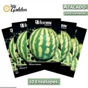 10 Envelopes - Sementes de Melancia Crimson Sweet - Atacado - Feltrin - Linha Golden