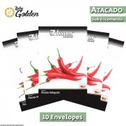10 Envelopes - Sementes de Pimenta Malagueta - Atacado - Feltrin - Linha Golden