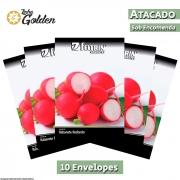 10 Envelopes - Sementes de Rabanete Jolly - Atacado - Feltrin - Linha Golden