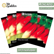 10 Envelopes - Sementes de Rabanete Serrano - Atacado - Feltrin - Linha Golden