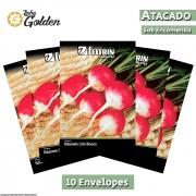 10 Envelopes - Sementes de Rabanete Sparkler Redondo - Atacado - Feltrin - Linha Golden