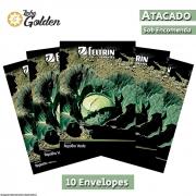 10 Envelopes - Sementes de Repolho Chato Do Quintal - Atacado - Feltrin - Linha Golden