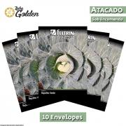 10 Envelopes - Sementes de Repolho Coração de Boi Gigante - Atacado - Feltrin - Linha Golden
