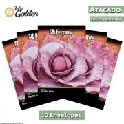10 Envelopes - Sementes de Repolho Roxo - Atacado - Feltrin - Linha Golden