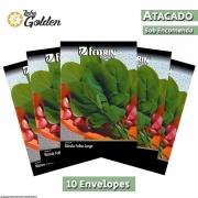 10 Envelopes - Sementes de Rúcula Apreciatta - Atacado - Feltrin - Linha Golden
