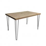 Mesa de Jantar Antiqua 80x140 com Hairpin Legs e Tampo 100% MDF (Não acompanham cadeiras)