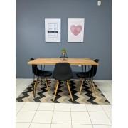 Mesa de Jantar Antiqua com Hairpin Legs e Tampo 100% MDF 30mm (Não acompanha cadeiras)