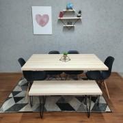 Mesa de Jantar Faia com Banco Tampo 100% MDF (Não acompanham cadeiras)