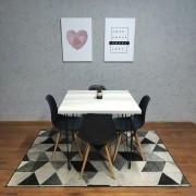 Mesa de Jantar Mezzo Bianco com Hairpin Legs e Tampo 100% MDF (PONTA DE ESTOQUE)