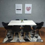Mesa De Jantar PREMIUM 90 cm x 140 cm Industrial Hairpin Legs - Tampo 100 % Mdf (Não acompanha cadeiras)