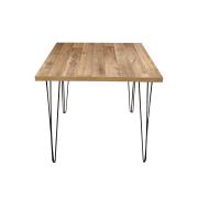 Mesa de Jantar Western 80x90 com Hairpin Legs e Tampo 100% MDF (Não acompanham cadeiras)