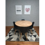 Mesa de Jantar Redonda Antiqua com Hairpin Legs e Tampo 100% MDF (PEÇA DE MOSTRUÁRIO)