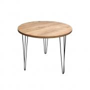 Mesa de Jantar Redonda para 3 Lugares 90cm Antiqua com Hairpin Legs e Tampo 100% MDF (Não acompanham cadeiras)