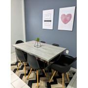 Mesa De Jantar STANDARD 90 cm x 140 cm Industrial Hairpin Legs - Tampo 100 % Mdf (Não acompanha cadeiras)
