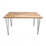 Mesa de Jantar Western 80x120 com Hairpin Legs e Tampo 100% MDF (Não acompanham cadeiras)