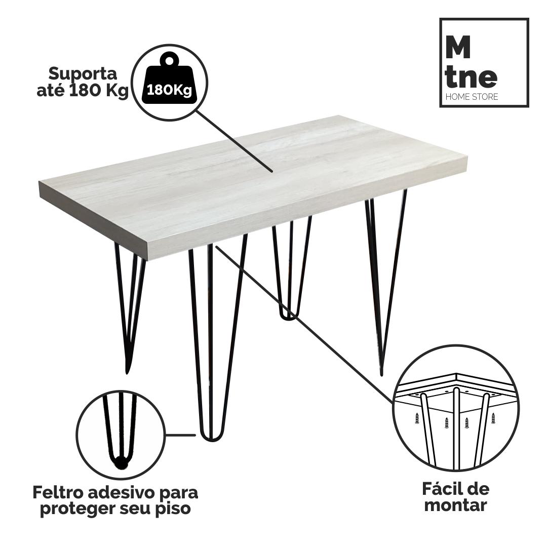 Banco Mezzo com Hairpin Legs e Tampo 100% MDF  - Mtne Store
