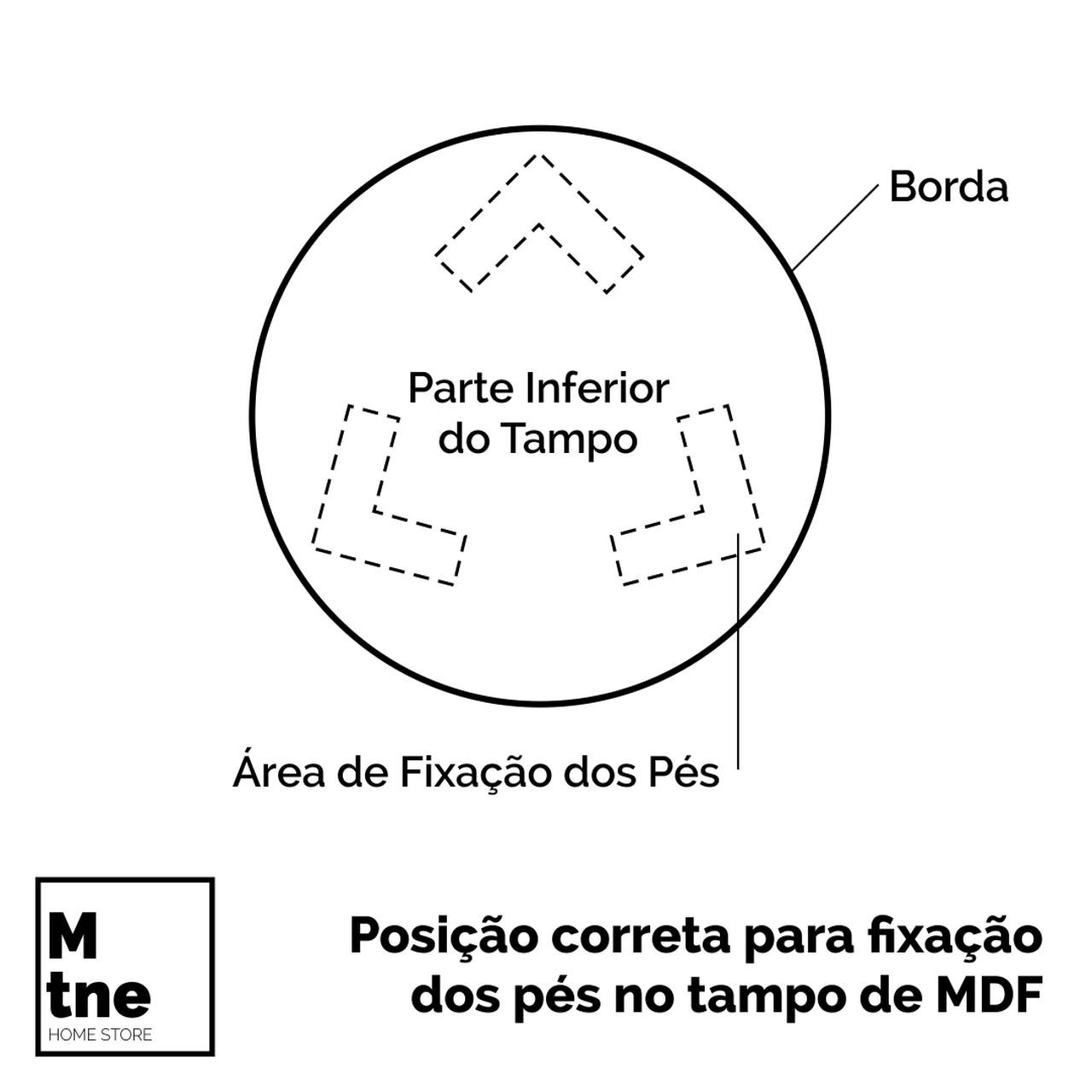 Conjunto de Mesinhas de Apoio Redondas com Hairpin Legs e Tampo 100% MDF  - Mtne Store