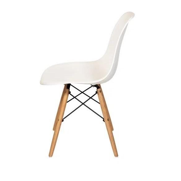 Kit 4 Cadeiras Eames Eiffel DSW - Branca  - Mtne Store
