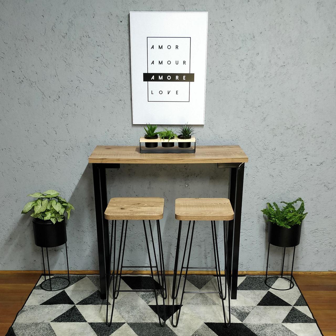 Kit de 3 Banquetas Estilo Industrial  - Mtne Store