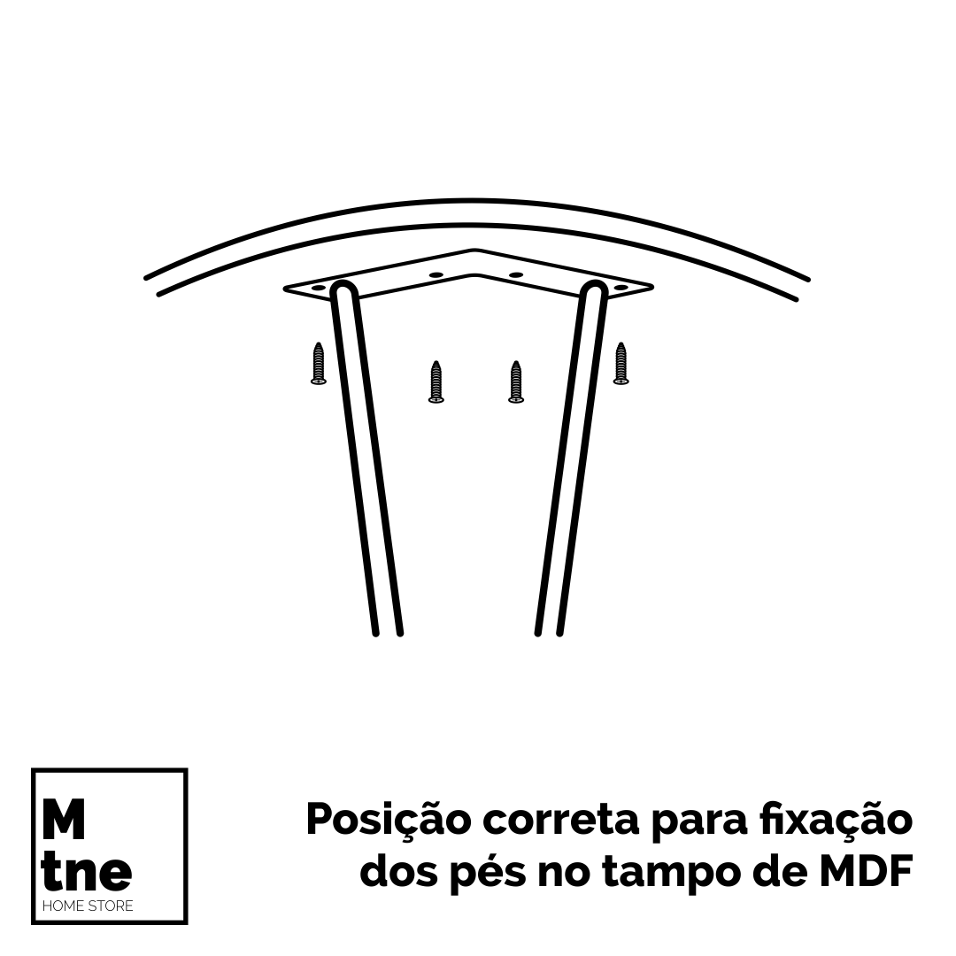 Mesa de Apoio 45 cm Antiqua com Hairpin Legs e Tampo 100% MDF  - Mtne Store