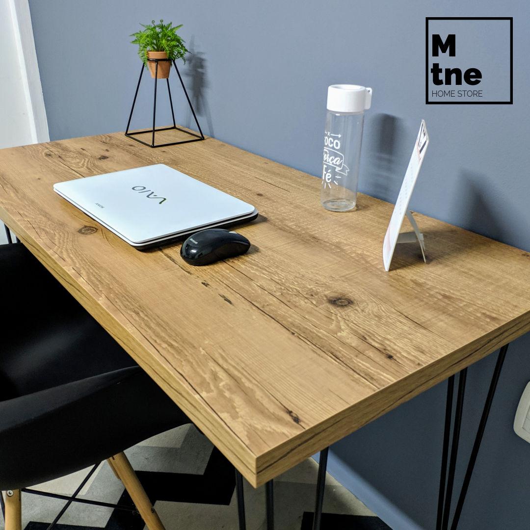 Mesa de Escritório Antiqua com Hairpin Legs e Tampo 100% MDF (Não acompanha cadeira)  - Mtne Store
