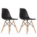 Mesa de Jantar 80x100 Hairpin Legs Antiqua com 2 Banquinhos e 2 Cadeiras Eames Pretas  - Mtne Store