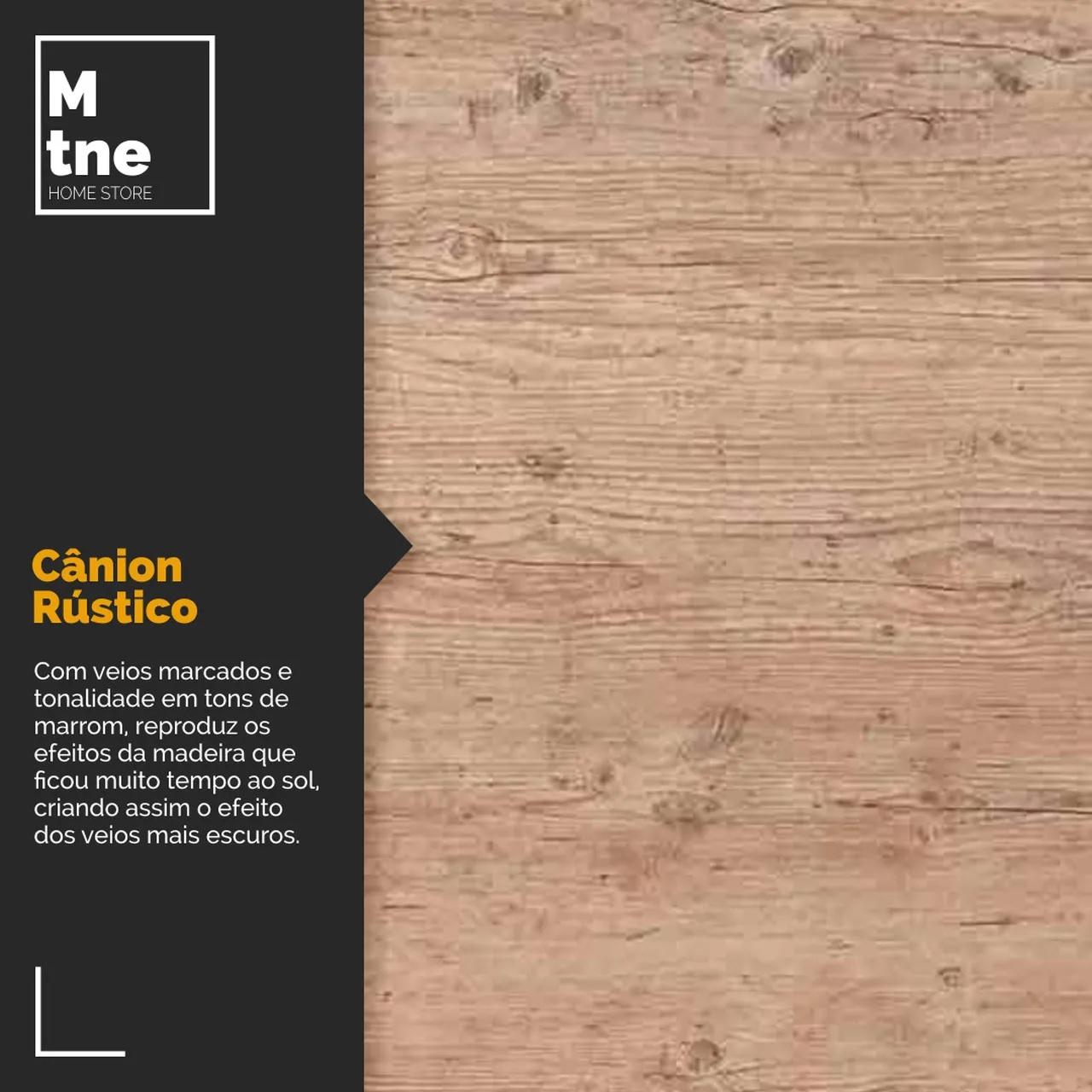 Mesa de Jantar 80x120 e Banco Canion Rustico com Hairpin Legs e Tampo 100% MDF  - Mtne Store