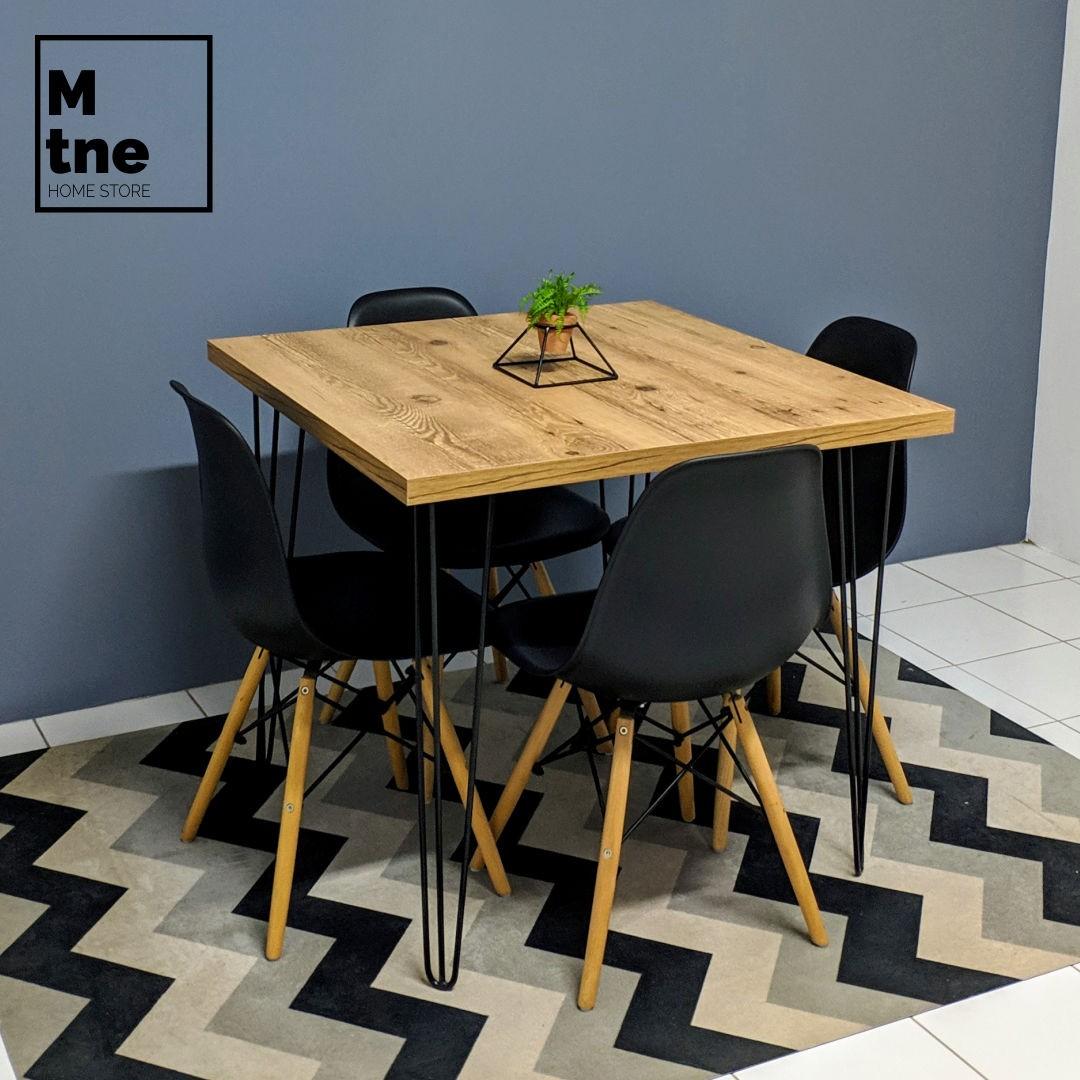 Mesa de Jantar Antiqua com Hairpin Legs e Tampo 100% MDF (Não acompanham cadeiras)  - Mtne Store