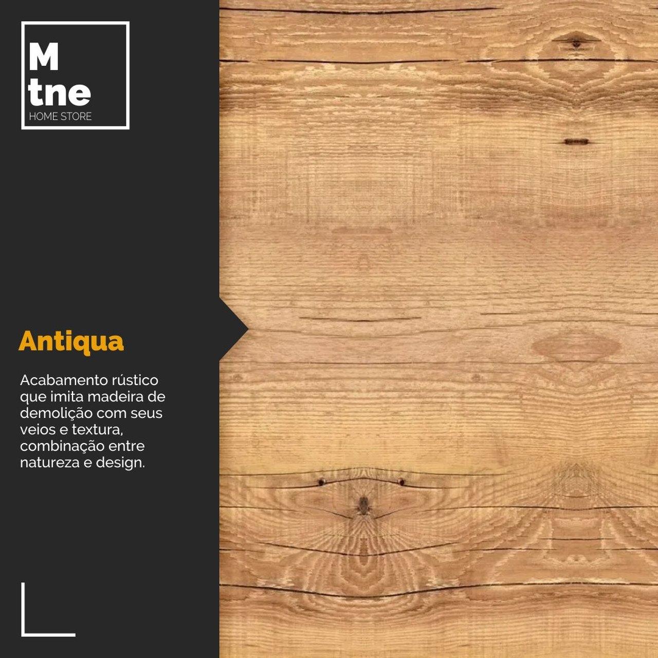 Mesa de Jantar Antiqua 90x140 Hairpin Legs com 6 Cadeiras Eames Pretas  - Mtne Store