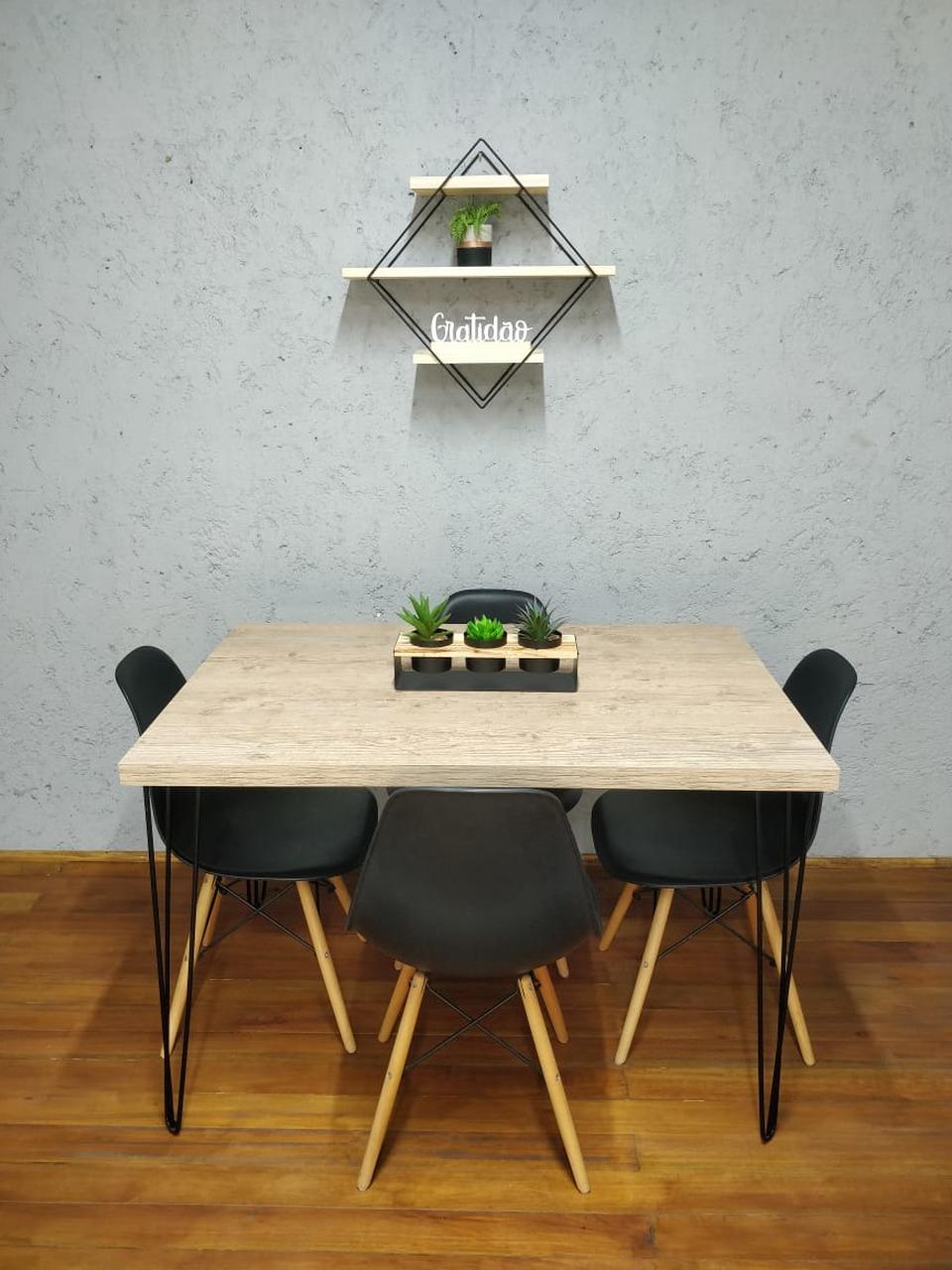 Mesa de Jantar Cânion com Hairpin Legs e Tampo 100% MDF (Não acompanham cadeiras)  - Mtne Store