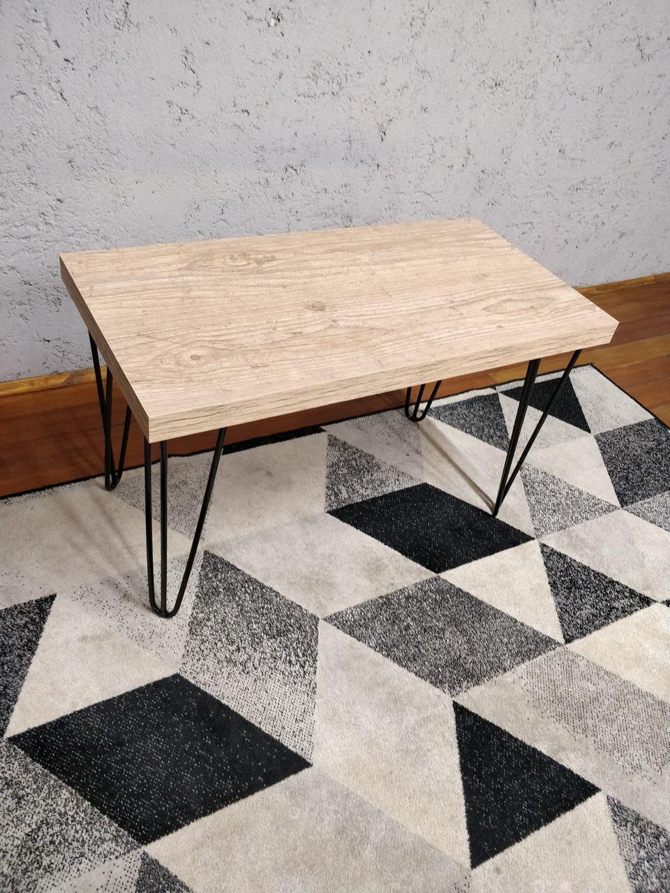 Mesa de Jantar e Banco Cânion Rústico com Hairpin Legs e Tampo 100% MDF  - Mtne Store