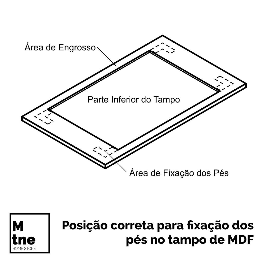 Mesa de Jantar Faia com Banco Tampo 100% MDF (Não acompanham cadeiras)  - Mtne Store