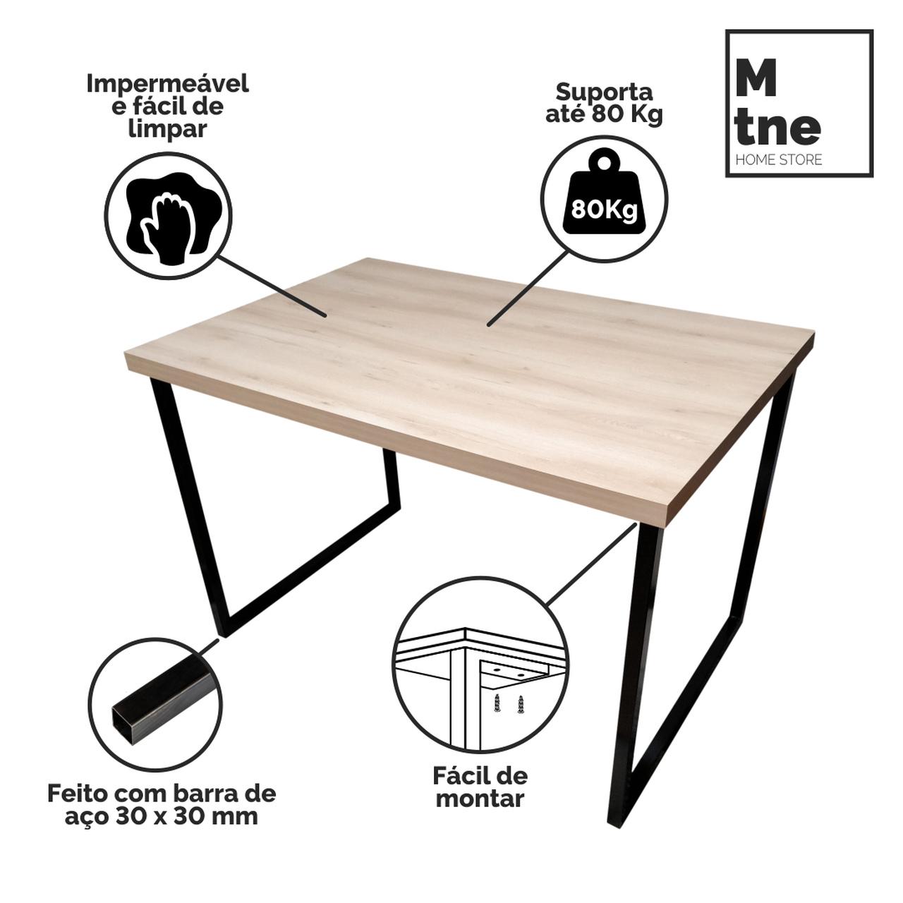 Mesa de Jantar Faia com Squared Legs e Tampo 100% MDF (Não acompanham cadeiras)  - Mtne Store