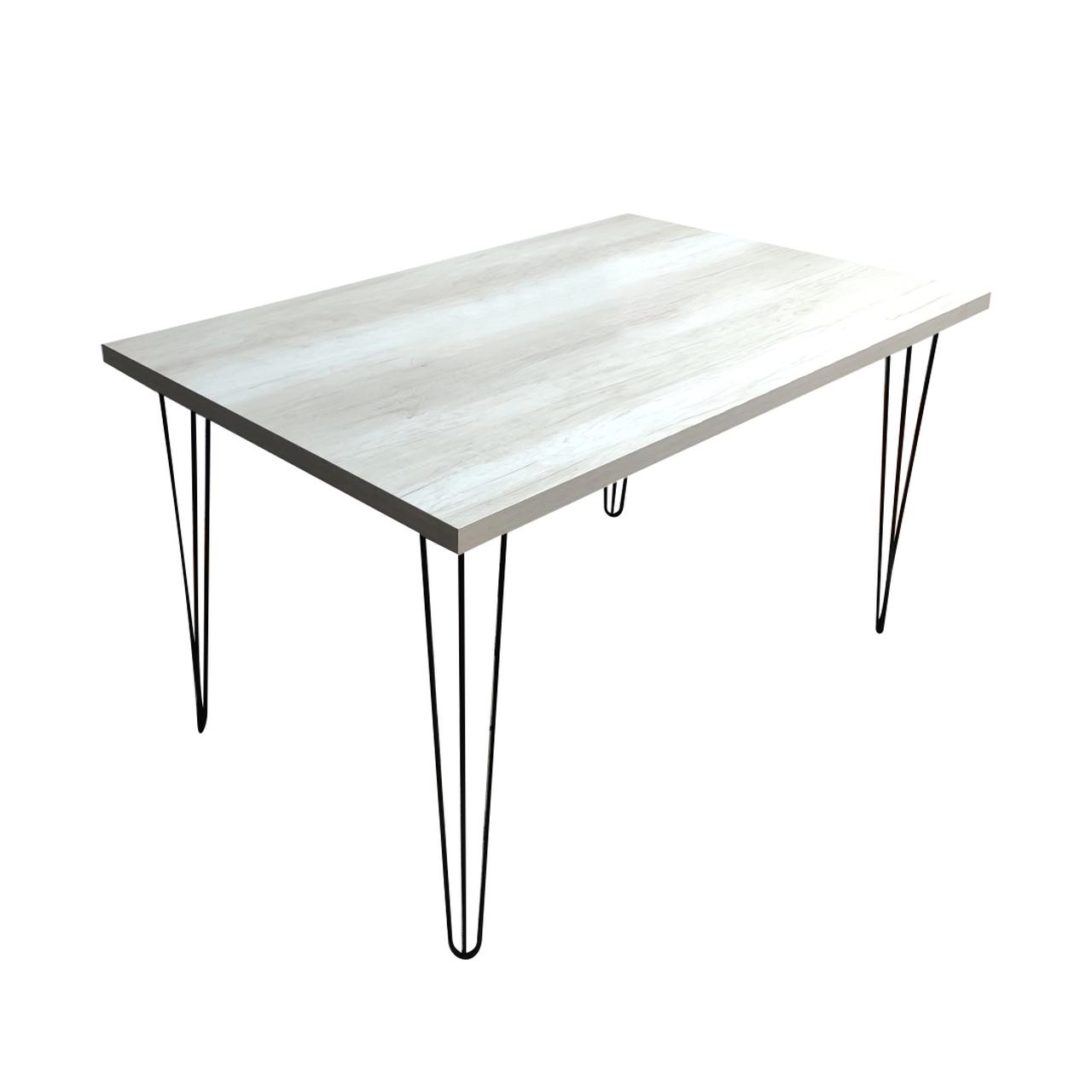 Mesa de Jantar Mezzo Bianco com Hairpin Legs e Tampo 100% MDF (Não acompanham cadeiras)