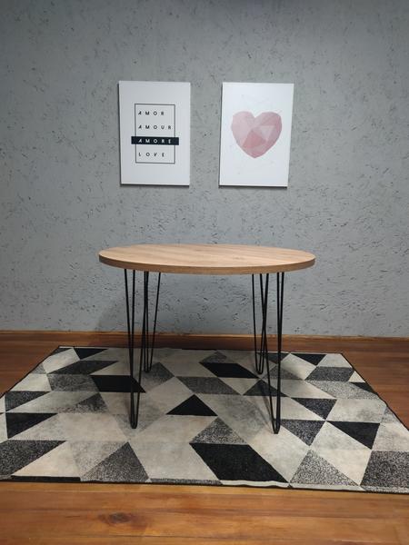 Mesa de Jantar Redonda Antiqua com Hairpin Legs e Tampo 100% MDF (Não acompanham cadeiras)  - Mtne Store