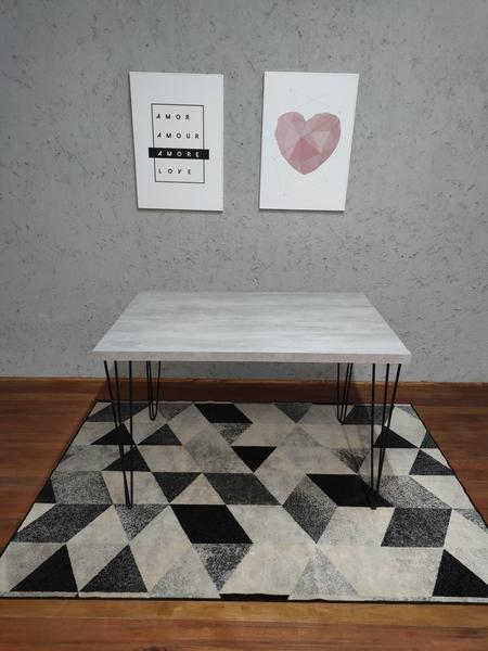 Mesa de Jantar Santorini com Hairpin Legs e Tampo 100% MDF (Não acompanham cadeiras)
