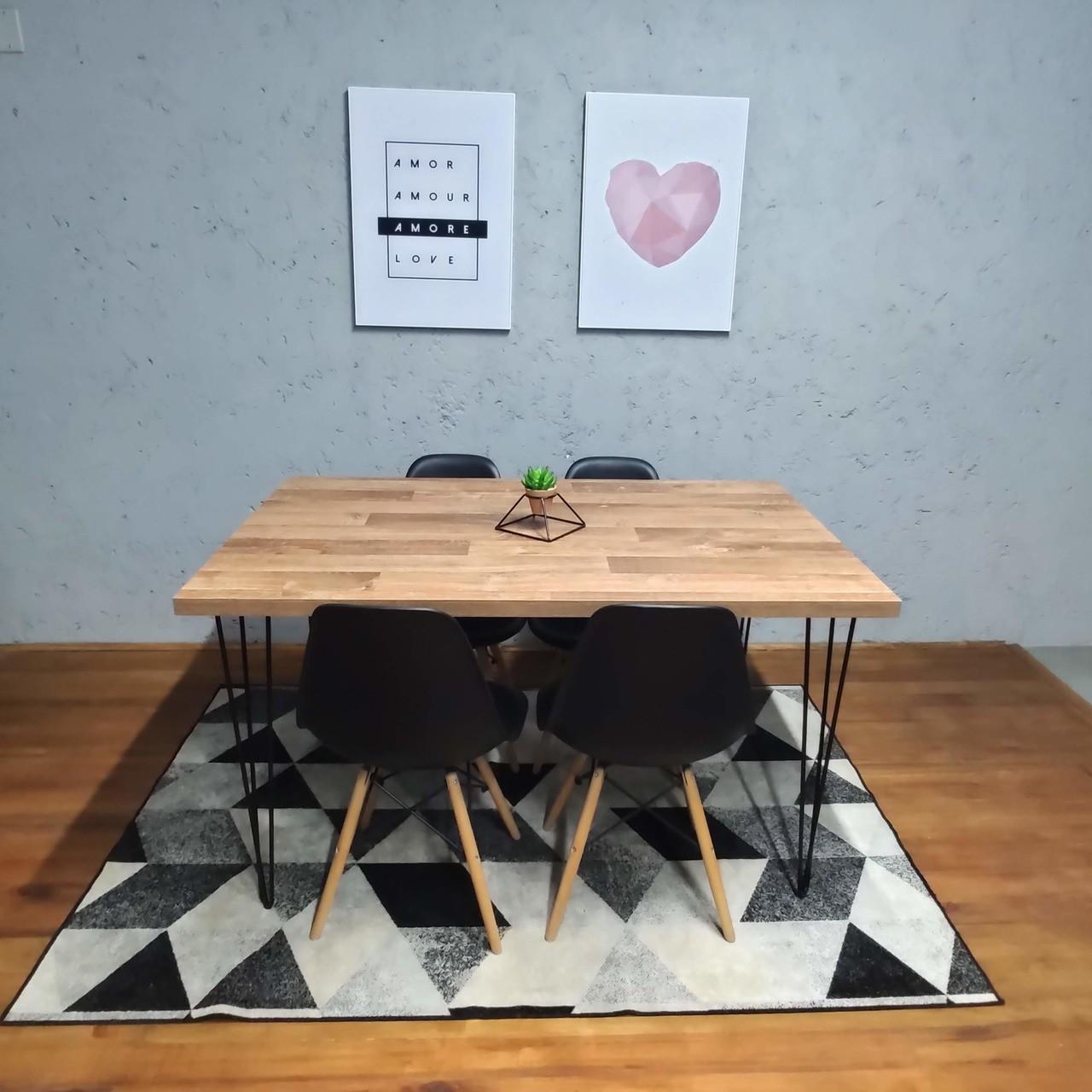 Mesa de Jantar Western com Hairpin Legs e Tampo 100% MDF (PONTA DE ESTOQUE)  - Mtne Store