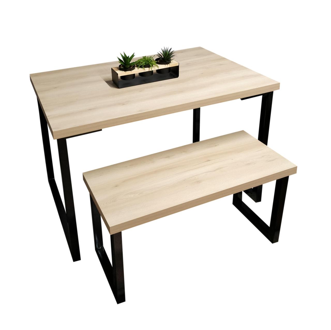 Mesas de Jantar e Banco sob medida com Squared Legs e Tampo 100% MDF  - Mtne Store