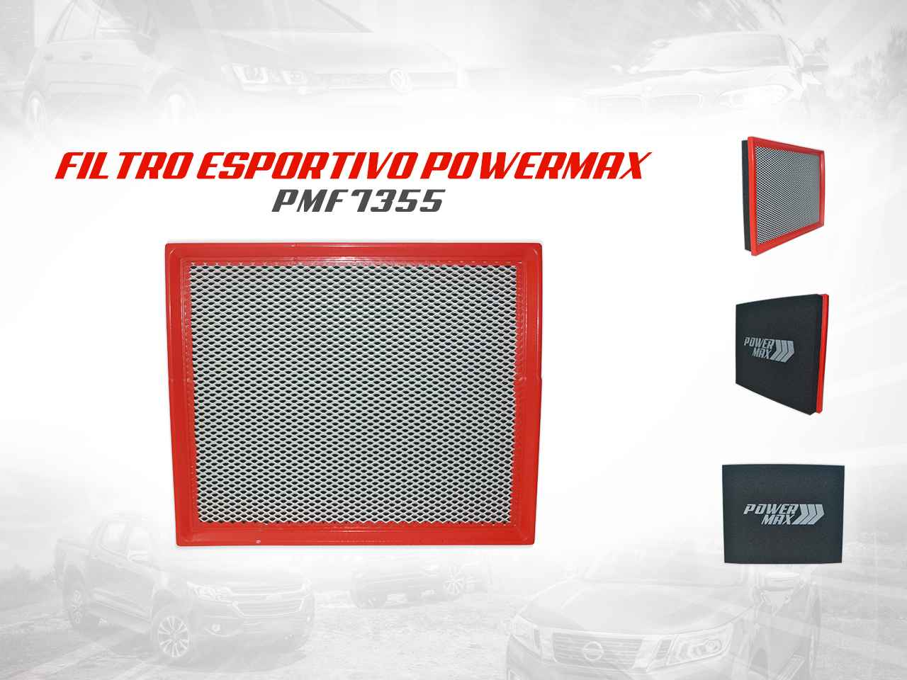 Filtro De Ar Esportivo Powermax Para Toyota Hilux 2.8