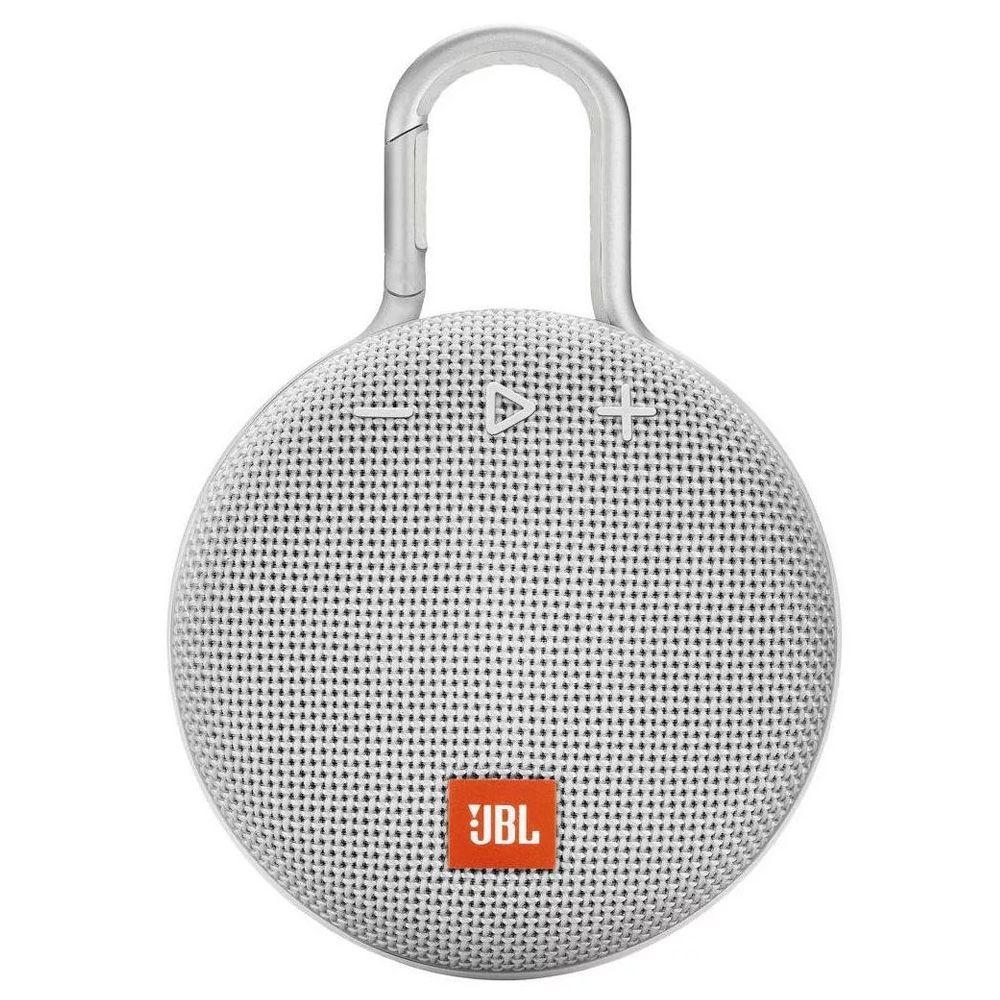 Alto-falante JBL Clip 3 portátil sem fio Steel white  - JPARTS BRASIL
