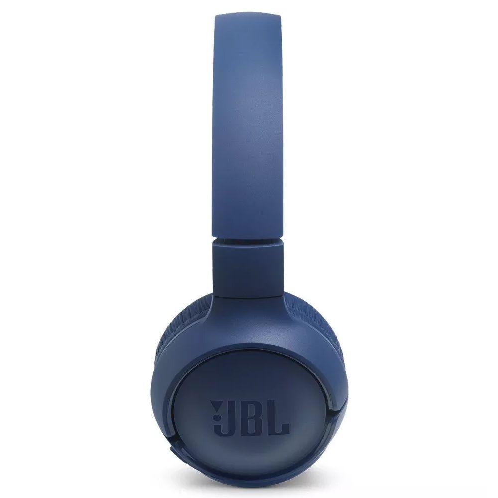 FONE DE OUVIDO JBL SEM FIO COM MICROFONE T500BT AZUL COM BLUETOOTH  - JPARTS BRASIL