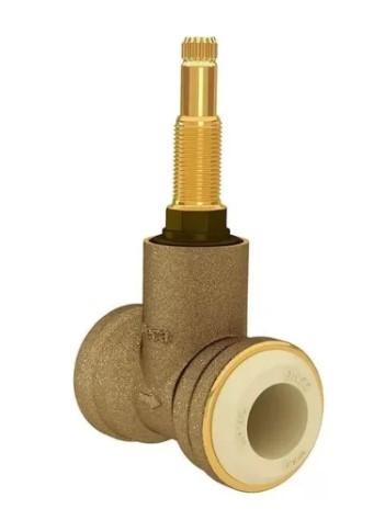 Base para registro de pressão MVS para tubulação em PVC de 22 Deca