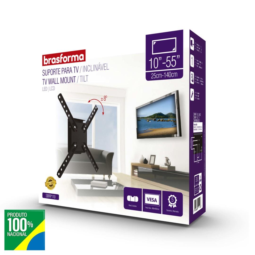 "SUPORTE TV LCD 10""-55"" INCLINAVEL SBRP110"