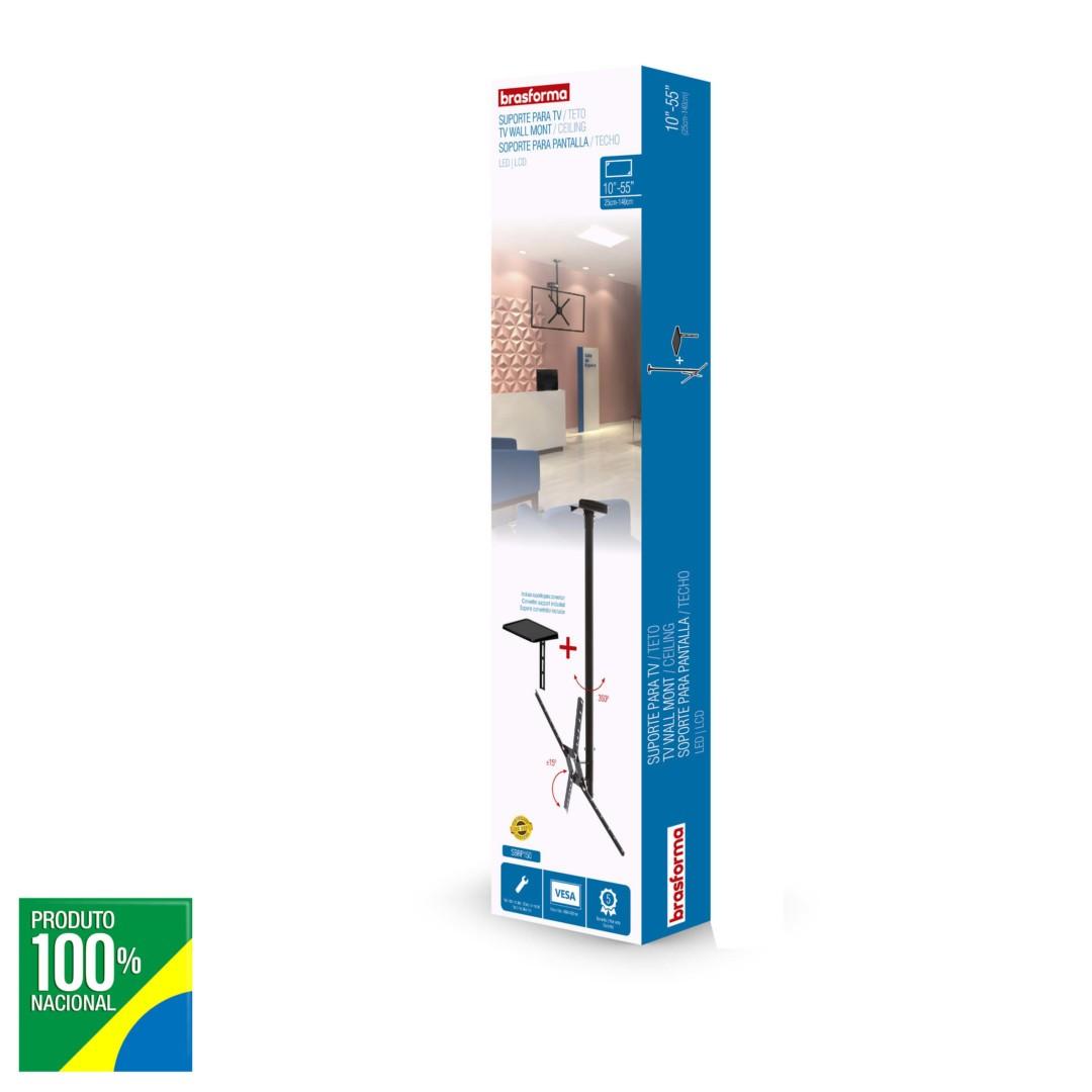 """SUPORTE TV LCD 10""""-55"""" TETO SBRP150"""