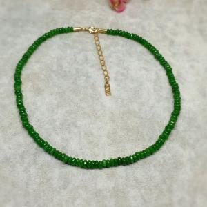 Chocker semijoia fio cristal jade 2515